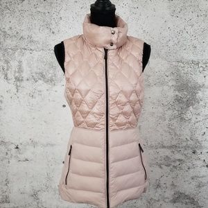 CALVIN KLEIN Quilted Puffer Vest Rose Large